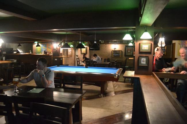 Upstairs Pool Table, Dubliner Irish Bar in Bangkok Sukhumvit