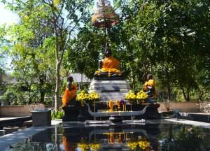 Meditation Shrine, Benjakiti Park Bangkok, Park Life in Southeast Asia