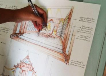 Life in Southeast Asia - Contemporary Thai Temple Design - Interior