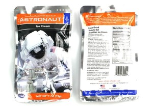 Neopolitan Space Ice Cream. Astronauts Freeze-dried ice cream.