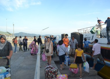Arrival at Satun Pier. Top Attractions in Langkawi Island Malaysia
