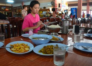 Bus Station Restaurant. Langkawi to Bangkok via Satun, Southeast Asia