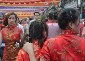 Chinese Red Dress, Chinese New Year in Bangkok Chinatown, Yaowarat