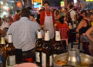 Roadside Restaurants, Chinese New Year in Bangkok Chinatown, Yaowarat