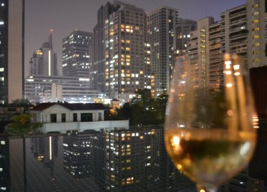 Wine at Condo Pool, Valentine's Day in Bangkok, Southeast Asia