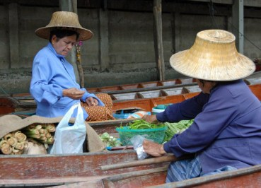 Long Tail Boats, Damnoen Saduak Floating Market Bangkok Southeast Asia