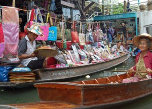 Tourist Junk, Damnoen Saduak Floating Market Bangkok Southeast Asia