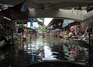Under Bridge, Damnoen Saduak Floating Market Bangkok Southeast Asia