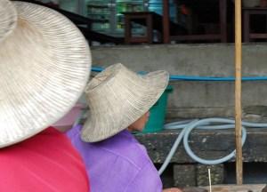 Cool Hats, Damnoen Saduak Floating Market Bangkok Southeast Asia