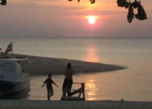 Sunset on Selingan Turtle Island, Borneo Eco-Tourism Sabah Malaysia