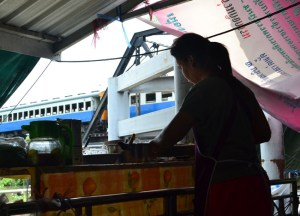 Train Bridge, Taling Chan Floating Market Bangkok, Southeast Asia