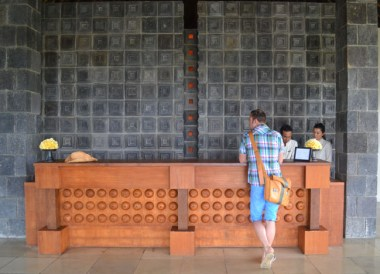 Reception Desk, Wedding at Alila Ubud, Married in Bali Indonesia