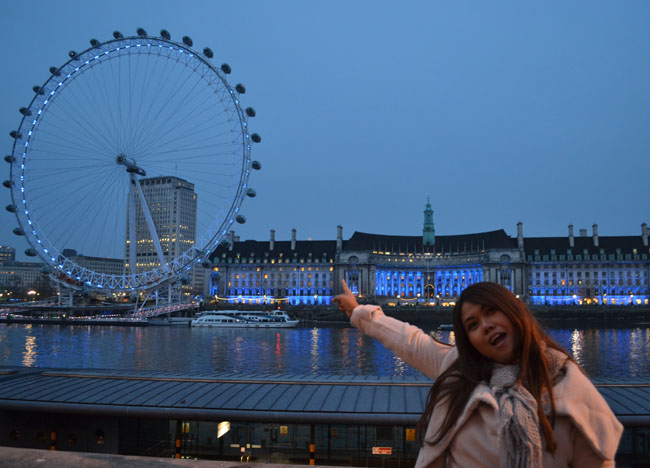 London Eye at Night, London Stopover, Cheap and Free Attractions