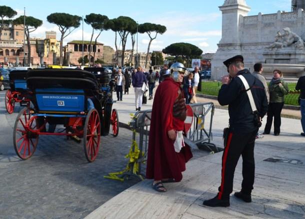 Roman Gladiator. Is Rome Tourist Friendly. Unfriendly Bad Experiences