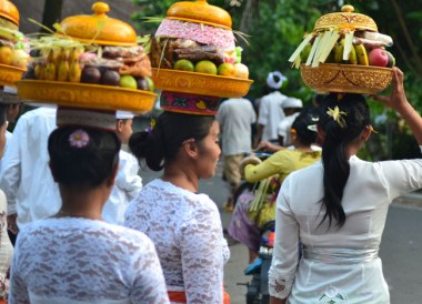 Temple Offerings, Escape Tourism in Ubud Cultural Capital of Bali