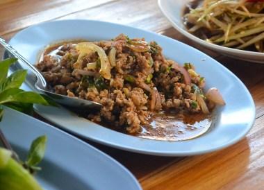 Laab Salad, Thai Isaan Food, Eating in Northeastern Thailand
