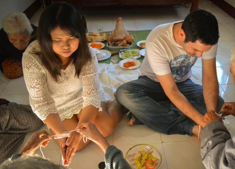 Housewarming Feast, String Bracelets Thailand, Sai Sin Sacred Thread, Asia