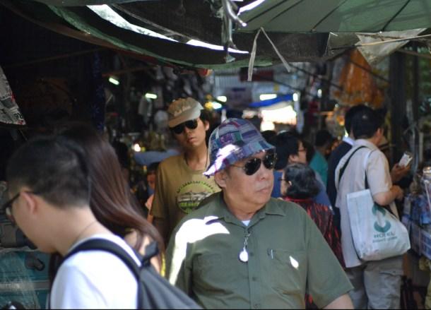 Crowded Aisles Eating at JJ Market Bangkok, Chatuchak Weekend Shopping