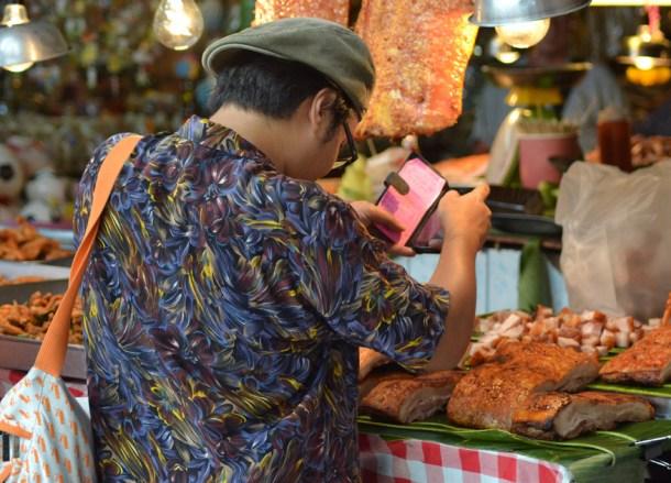 Pork Belly, Eating at JJ Market Bangkok, Chatuchak Weekend Shopping