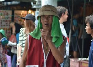 Local Worker, Eating at JJ Market Bangkok, Chatuchak Weekend Shopping