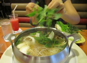 Adding Vegetables to Soup, Thai Hot Pots in Bangkok, Jim Jum, Joom Zap Hut