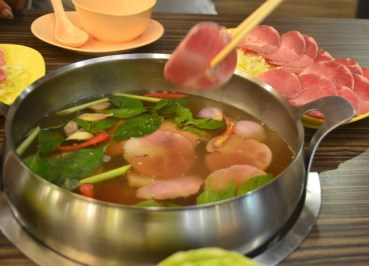 Pork Set, Thai Hot Pot Jim Jum, Joom Zap Hut, Barbecue Plaza, Bangkok