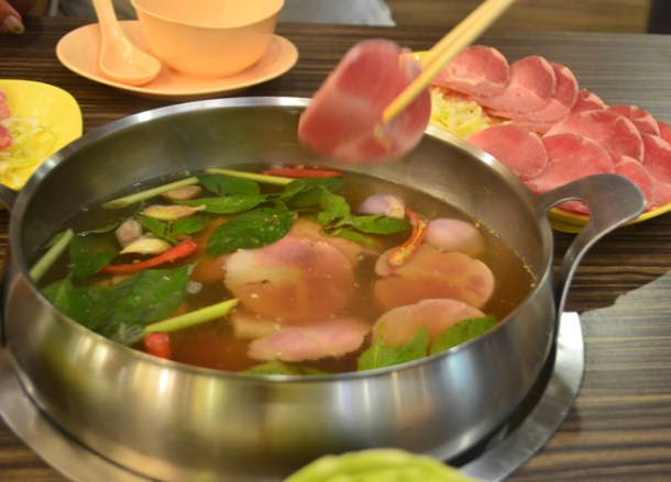 Basic Pork Set, Thai Hot Pots in Bangkok, Jim Jum at Joom Zap Hut