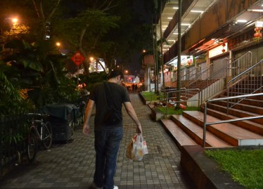 Singapore Streets. McDonalds in Asia. Comfort Foods while Travelling