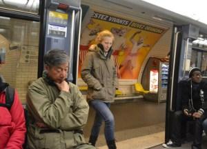 Underground Metro Station, Montparnasse Area of Paris, Stopover
