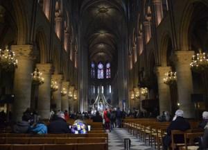 Inside Notre Dame, Montparnasse Area of Paris, Stopover