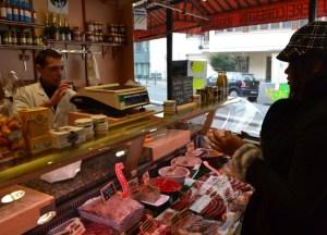 French Boucherie Shop, Montparnasse Area of Paris, Stopover