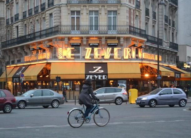 Le Zeyer Paris Cafe, Montparnasse Area of Paris, Stopover