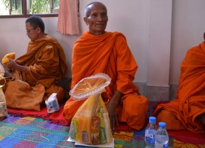 Offering, Buddhist Monk Blessing Ceremony for Health, Thailand, Asia