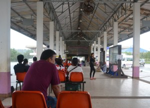 Chong Mek Bus Terminal Pakse to Bangkok by Bus, Laos to Thailand, Asia,