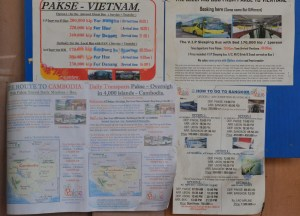 Bus Timetable, Prices, Pakse to Bangkok by Bus, Laos to Thailand, Asia
