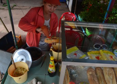Lao Baguette Sandwich Stalls, Things to do in Pakse City Southern Laos