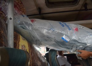 Packing Freight, Savannakhet to Pakse by Bus, Travel in Southern Laos