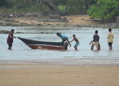 Kids Launching Boat, Village Coconut Island Resort Phuket Hotel Review