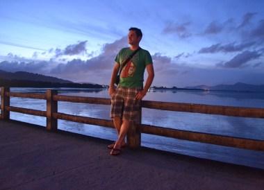Boardwalk at Laem Hin Pier, Village Coconut Island Resort Phuket, Asia