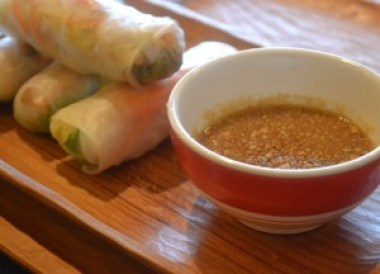 Spring Rolls at Lin's Cafe, Savannakhet, Vietnamese food in Laos