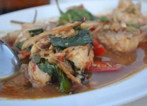 Pla Pad Cha Spicy Fish, Laem Hin Seafood Restaurant, Phuket, Thai Food