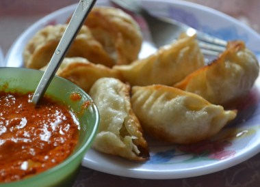 Gangtok to Changu Lake in Low Season, Deep Fried Momo