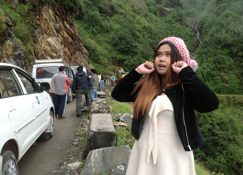 Landslide in Himalayas, Gangtok, Sikkim, Travel in Indian Himalayas, Asia