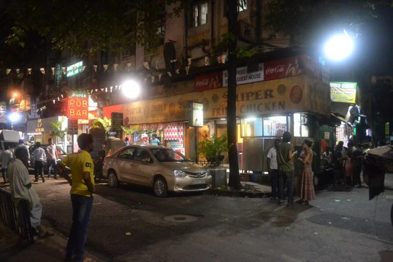 Tourists on Sudder Street, Tourist Areas of Kolkata City Centre, India
