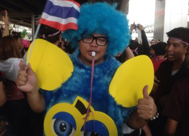 Furby Costume, Amnesty Protests in Bangkok Asoke, Thailand