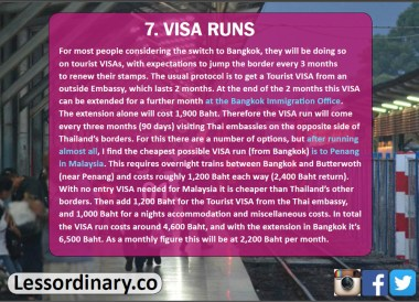 VISA Runs, Expats Cost of Living in Bangkok Thailand