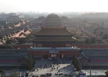 Hilltop View from Jingshan Park, Best Views of Forbidden City, Beijing
