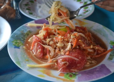 Som Tam Thai, Top Bangkok Street Food, Thailand Cheap Eats