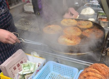 Deep Fried Pancakes, Top Ten Chinese Street Food in Xian China