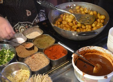 Spiced Baby Potatoes, Eating on Xian Muslim Quarter, Street Food